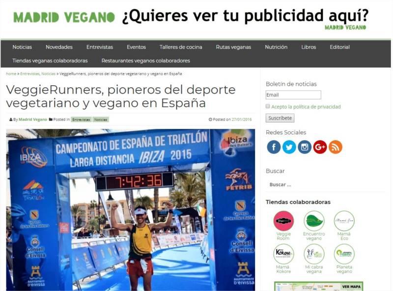 VeggieRunners madrid vegano