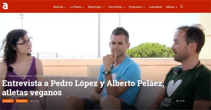 Entrevista a Pedro López y Alberto Peláez, atletas veganos TVAnimalista.com